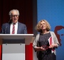 Chairman of the Board of the Jan Karski Educational Foundation, Andrzej Rojek, and President of Fundacja Edukacyjna Jana Karskiego, Ewa Junczyk-Ziomecka, welcome the guests (Photo: Ewa Radziewicz)