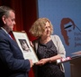Sponsor of the awards and the event, Paweł Rymarz of the Rymarz Zdort Law Firm, accepts a diploma in recognition of his support from Ewa Junczyk-Ziomecka (Photo: Ewa Radziewicz)