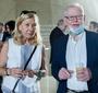 Maria Dzieduszycka from the Zbigniew Herbert Foundation with Maciej Wierzyński, member of the Award Committee (Photo: Ewa Radziewicz)