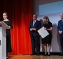 Recipient of the Karski2020 Award, Urszula Woźniak expresses gratitude to all the people involved in the voluntary work she is part of (Photo: Ewa Radziewicz)