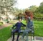 Rafał Siemianowski on Karski Bench at Georgetown University (Photo: courtesy of Rafał Siemianowski)