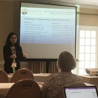During her presentation, Dr. Rachayita Shah of the Florida Atlantic University talks about the challenges in implementing the Holocaust education (Photo: Bożena U. Zaremba)