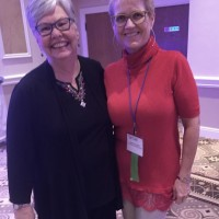 Maureen Carter of School Board of Palm Beach County and JKEF's Bożena U. Zaremba at the award gala (Photo: Courtesy of FCSS)
