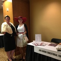 "During the ""Time Machine"" event, the participants dressed in the style of 1958 to celebrate the 60th anniversary of FCSS conferences. Pictured: Peggy Renihan, Conference Coordinator (and the incoming Vice-President of FCSS) and Bożena U. Zaremba of the Jan Karski Educational Foundation (Photo: Courtesy of FCSS)"