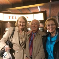 Visit to the Warsaw Rising Museum. From the left: Wanda Urbanska, Ambassador John Maisto, and Sheilah Kast. (Photo: Courtesy of Wanda Urbanska)