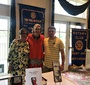 Mount Airy Rotary Club member, Ann L Vaughn; Wanda Urbanska; and Henry Levering after the presentation on May 7 (Photo: Marion Goldwasser)