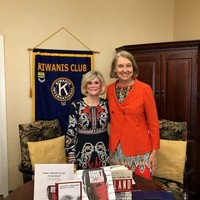 President of the Kiwanis Club, Bettsee Smith-McPhail, and Wanda Urbanska at the May 7 presentation (Photo: Ann L. Vaughn )
