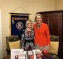 President of the Kiwanis Club, Bettsee Smith-McPhail, and Wanda Urbanska at the May 7 presentation (Photo: Ann L. Vaughn )