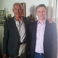 Dr. Peter Krogh, Dean and Distinguished Professor Emeritus of Georgetown's Walsh School of Foreign Service with Piotr Zygadło (Photo: Courtesy of Piotr Zygadło)