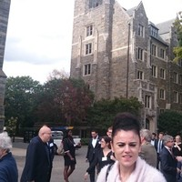 Magdalena Brzozowska on the Georgetown University campus (Photo: Courtesy of Magdalena Brzozowska)