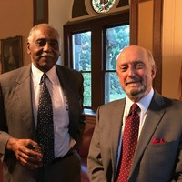 Dr. Richard America and Giordano (Gerry) Chiaruttini (Photo: Wanda Urbanska)