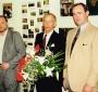 Stanislaw M. Jankowski, Jan Karski and E.Thomas Wood in Nowy Sacz, 1996  (© Tom Wood)