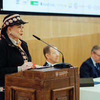 The US Ambassador to Poland, Georgette Mosbacher, speaking at the conference (Photo: Przemek Bereza)