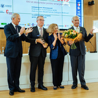 Ceremony awarding Professor Peter F. Krogh (on the right) with the Spirit of Jan Karski Award. From the left: Andrzej Rojek, Chair of the Board of Jan Karski Educational Foundation; Michał Mrożek, member of the JKEF Board, and Ewa Junczyk-Ziomecka, President of Fundacja Edukacyjna Jana Karskiego (Photo: Przemek Bereza)