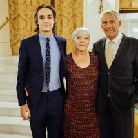 Mr. and Mrs. Peter F. Krogh and their grondson, Nico Capala, who is currently studying at the University of Warsaw, at the reception in honor of Professor Krogh (Photo: Przemek Bereza)
