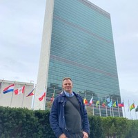 Daniel Szczęsny at the United Nations Headquarters in New York, NY (Photo: Courtesy of Daniel Szczęsny)