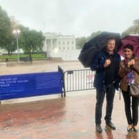 Daniel Szczęsny and Izabela Hrynek in front of the White House (Photo: Courtesy of Daniel Szczęsny)