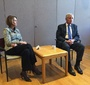 Barbara Bodine and Chuck Hagel (Photo: Courtesy of Agnieszka Bieńczyk-Missala and Błażej Moder)