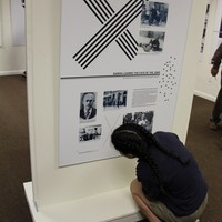 Bonita Springs Charter School student touring the Karski exhibit (Photo: Courtesy of the Holocaust Museum & Education Center of Southwest Florida)