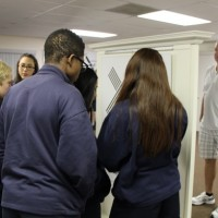 Bonita Springs Charter School students touring the Karski exhibit (Photo: Courtesy of the Holocaust Museum & Education Center of Southwest Florida)