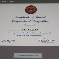 Certificate of Congressional Recognition 1966 (Photo: Jane Robbins)