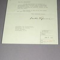 Letter from US President Roosevelt about Karski's book