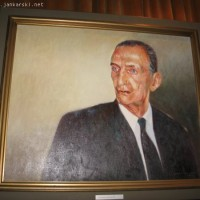 Portrait of Karski in oil 1999 (Photo: Jane Robbins)