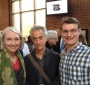 Wanda Urbanska, David Strathairn and Jacek Slowikowski at the reception after the dramatic reading (Jacek Slowikowski)
