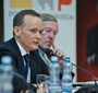 Wojciech Bialozyt speaking about the Foundation  (M.Szacho/Fototaxi)