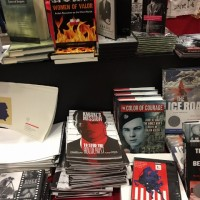 Graphic novel Karski's Mission: to Stop the Holocaust; Karski & The Lords of Humanity DVD; and Educational CDs on display at the National Council for Social Studies conference (Photo: Courtesy of Cecilia Glembocki)