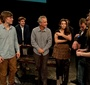 David Strathairn and students during a rehearsal (Photo: Seweryn Pogorzelski)