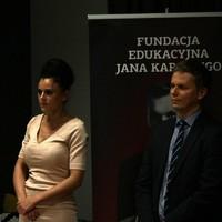 Winners of the 2017 GLS scholarship: Magdalena Brzozowska and Piotr Zygadło (Photo: Antoni Szczepański)