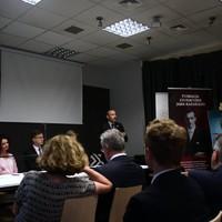 Szymon Pawlak (GLS Class of 2015) speaks to the group  (Photo: Antoni Szczepański)