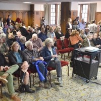 Audience at the Reading and Conversation with Agata Tuszyńska (Photo: Peter Smith)