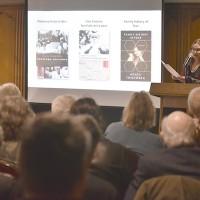 Agata Tuszyńska talking about her memoir (Photo: Peter Smith)