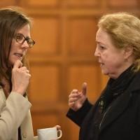 Karen Underhill and Irena Grudzińska-Gross of Princeton University (Photo: Peter Smith)