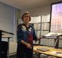 Ewa Wierzyńska presenting Jan Karski's story at the International Women Associates meeting (Photo: Małgorzata Palka)