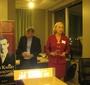 Wanda Urbanska's presentation at the PACC meeting. On the left, PACC Executive Director, Bogdan Pukszta (Photo: Bożena U. Zaremba)