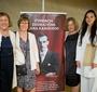 Jadwiga Czartoryska, Ewa Wierzyńska i Ewa Junczyk-Ziomecka z laureatką nagrody Karski2020, Aleksandrą Wiśniewską (Fot. Ewa Radziewicz)