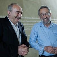 Dyrektor Muzeum POLIN, Zygmunt Stępiński i Eugeniusz Smolar (Fot. Ewa Radziewicz)