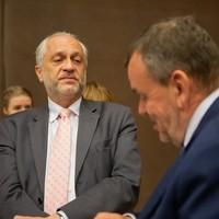 Witold Sobkow, były ambasador RP w ONZ, Irlandii i Wielkiej Brytanii z mecenasem Pawłem Rymarzem (Fot. Ewa Radziewicz)
