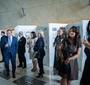 Goście uroczystości wręczenia nagród Spirit of Jan Karski Award i Karski2020 w hallu Muzeum POLIN (Fot. Ewa Radziewicz)