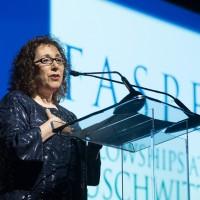 Joanne Waldstreicher delivering her acceptance remarks (Photo: Melanie Einzig)