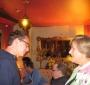 Andrew Behling (Young Karski) talking to Bożena Nowicka McLees (Photo: Bożena U. Zaremba)