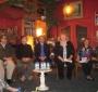 The pre-show panel: Dale McFadden, Arthur Feinsod, Chris Berchild, Mary Skinner and Ewa Wierzyńska (Photo: Bożena U. Zaremba)