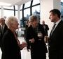 Christine Nagorksi, Barbara Wierzbiańska, and Robert Kostrzewa, Vice Dean at the New School (Photo: Julian Voloj)