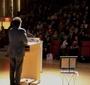 Nicholas Kristof delivering his acceptance speech (Photo: Julian Voloj)