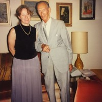 Anna VanMatre and Jan Karski in 1998 (Photo: Anna VanMatre's Personal Archives)