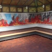 Anna VanMatre's installation on display at the International Youth Meeting Center in Oświęcim/Auschwitz (Photo: Steve Oldfield)