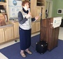 Maxine Ershler Kerr of the JCC speaks at the event (Frances Cayton)